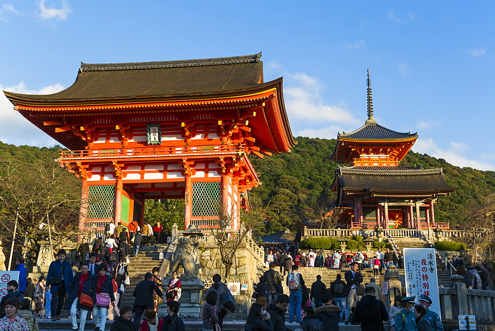 Japan, Honshu, Kyoto, Kiyomizu-dera temple, classified as World Heritage by UNESCO - 794-4490