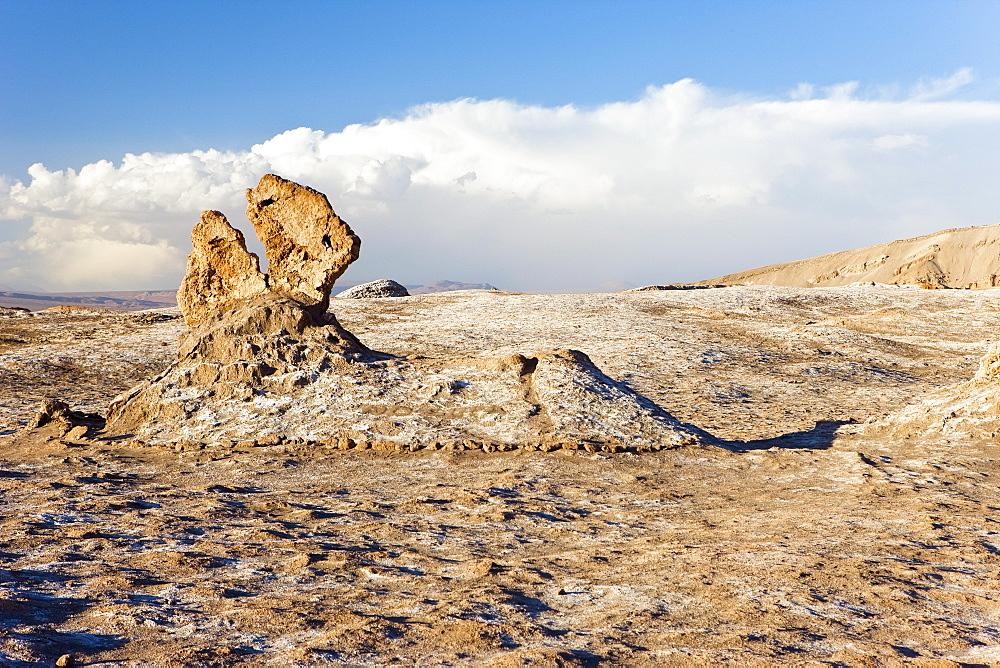 Eroded rock pinnacles, Valle de la Luna (Valley of the Moon), Atacama Desert, Norte Grande, Chile, South America