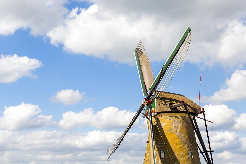 Windmill, Kinderdijk, UNESCO World Heritage Site, Netherlands, Europe - 794-4522