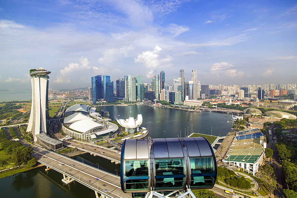 View of the Downtown Singapore skyline and Marina Bay, Singapore, Southeast Asia, Asia