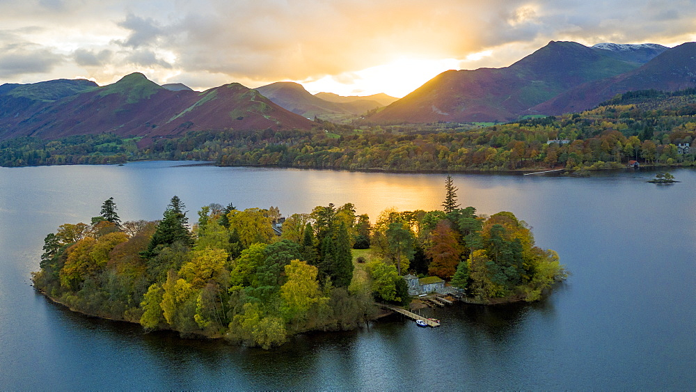 United Kingdom, England, Cumbria, Lake District National Park, Derwent water - 794-4568
