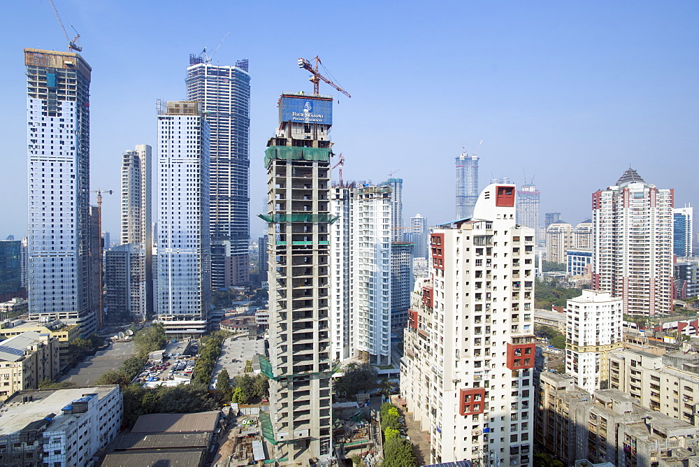 City skyline of modern office and residential buildings, Mumbai, Maharashtra, India, Asia - 794-4625