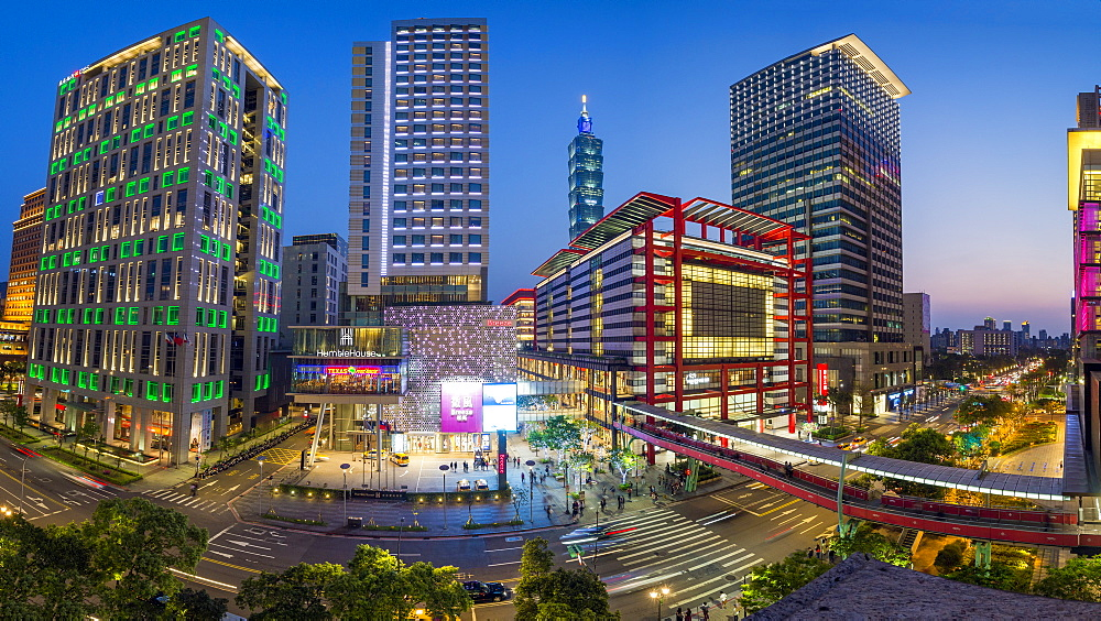 Xinyi downtown district, the prime shopping and financial district, Taipei, Taiwan, Asia - 794-4628