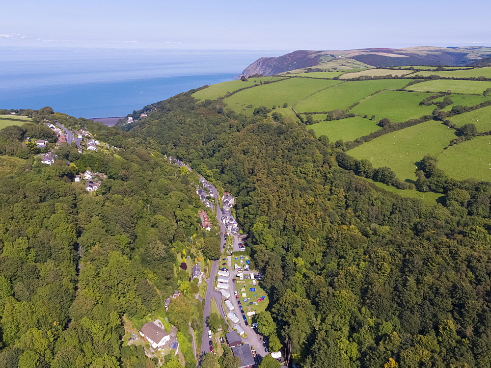 Wooded valley on the north Devon coast, Lynton, Exmoor, Devon, England, United Kingdom, Europe - 794-4640