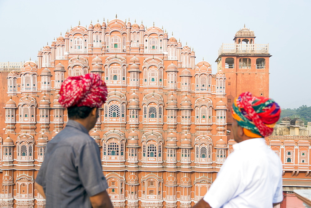 Hawa Mahal (Palace of the Winds), built in 1799, Jaipur, Rajasthan, India, Asia - 794-4654