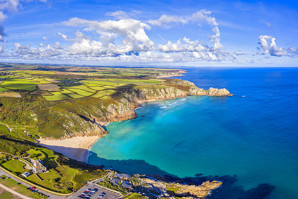 Porthcurno beach, Porthcurno near Lands End, Cornwall, England, United Kingdom, Europe