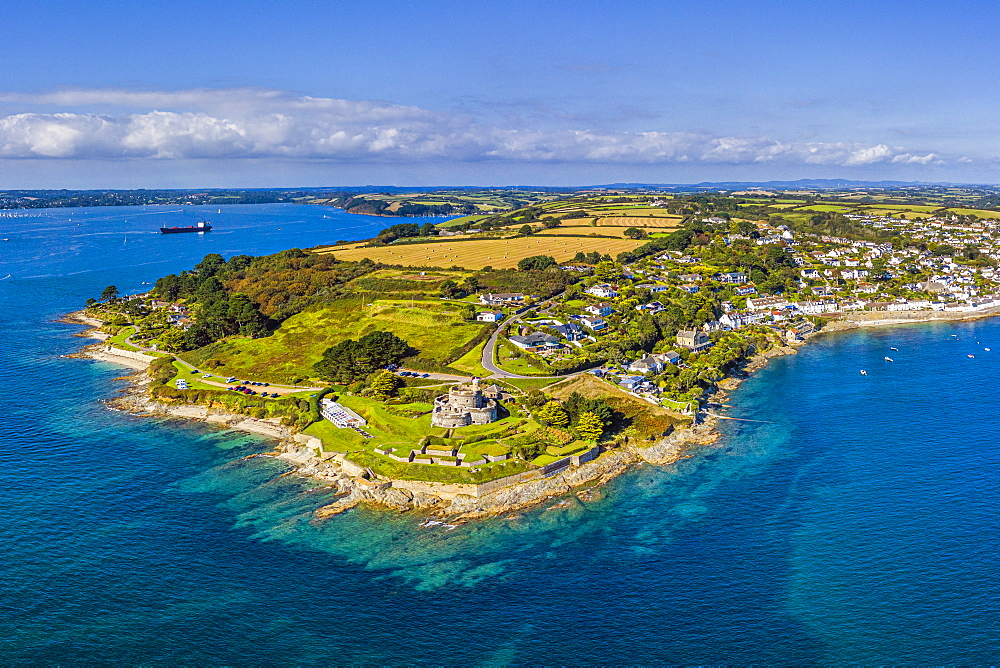 St. Mawes and St. Mawes Castle, near Falmouth, Cornwall, England, United Kingdom, Europe