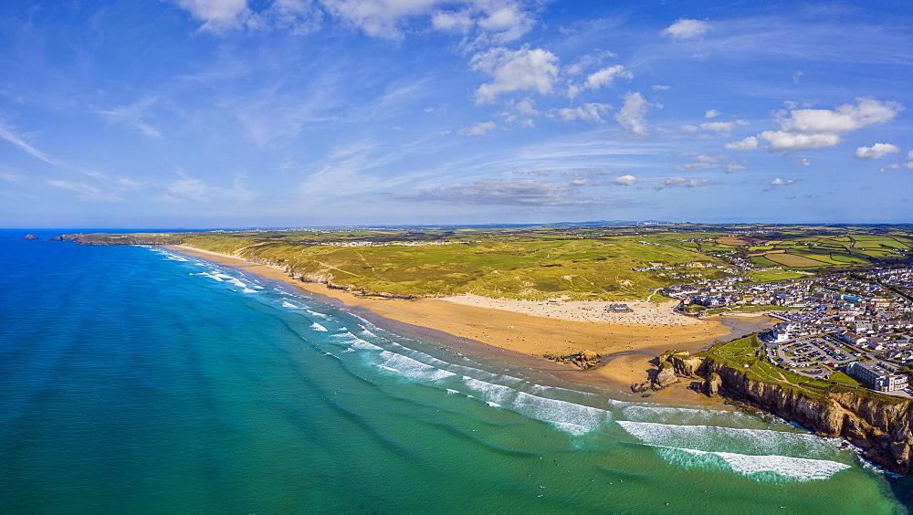 Perranporth beach, Perranporth, Cornwall, England, United Kingdom, Europe