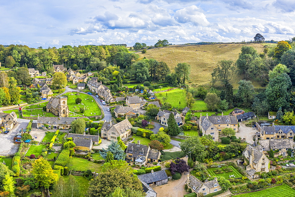Cotswolds village of Snowshill, Gloucestershire, England, United Kingdom, Europe