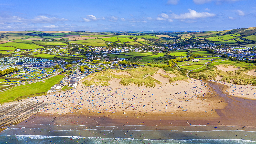 Croyde beach, Croyde, North Devon, England, United Kingdom, Europe