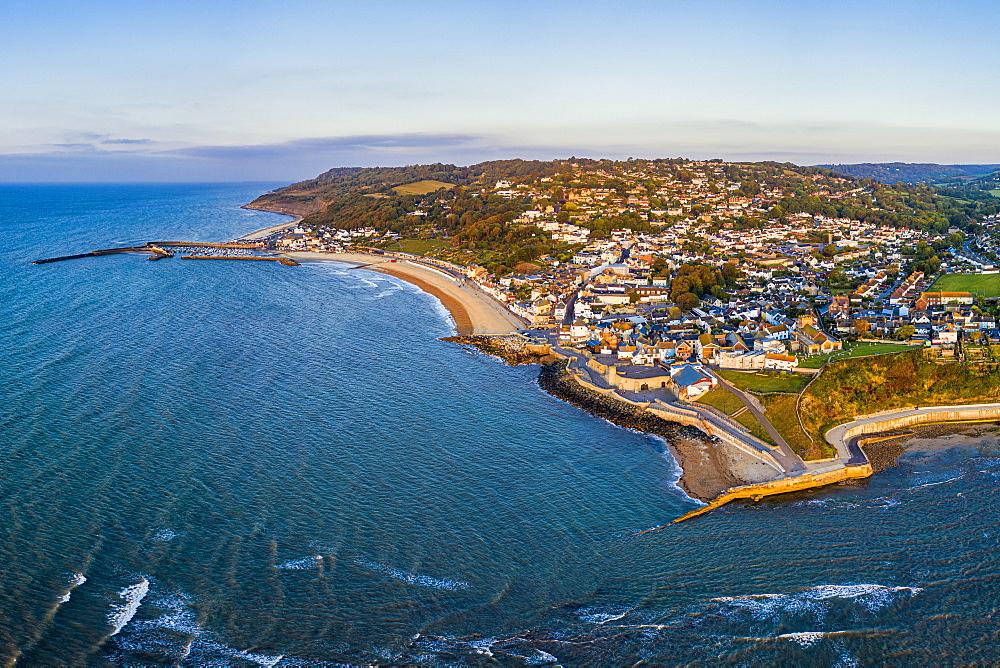 The Cobb and beach at Lyme Regis, Dorset, England, United Kingdom, Europe