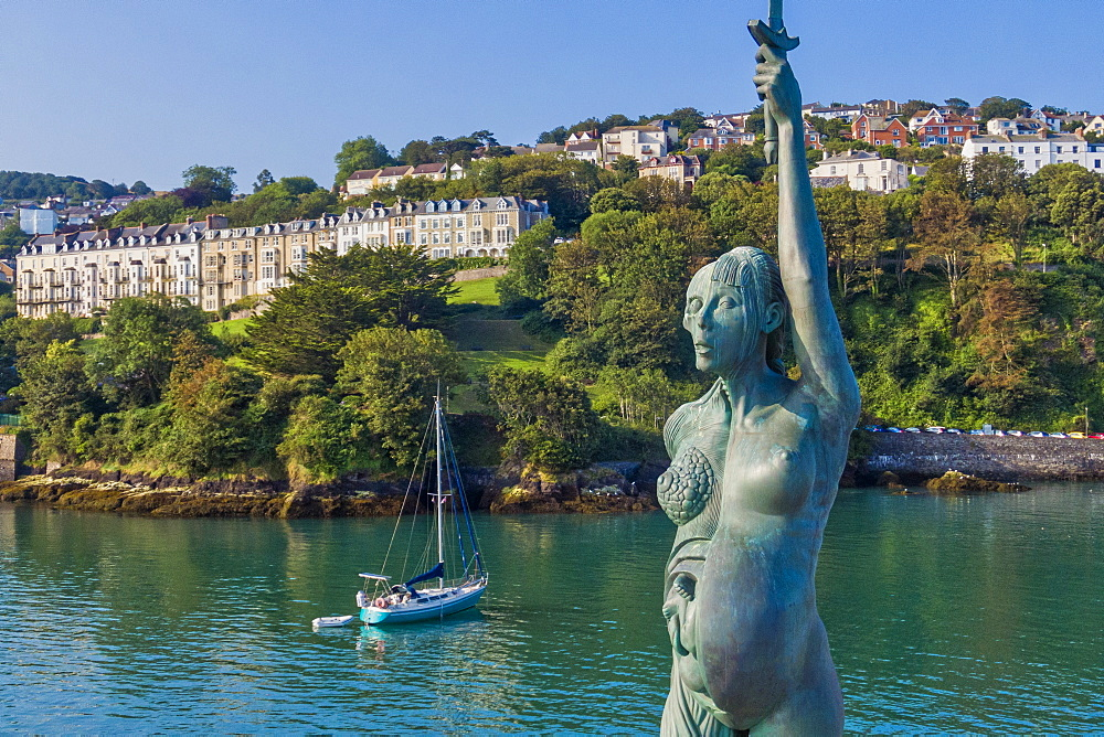Verity statue, Ilfracombe, North Devon coast, Devon, England, United Kingdom, Europe