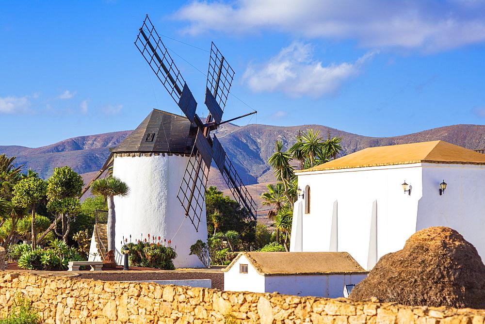 Molino de Antigua, traditional windmill, Antigua, Fuerteventura, Canary Islands, Spain, Atlantic, Europe
