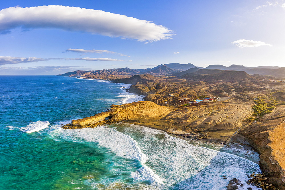 Spain, Canary Islands, Fuerteventura, La Pared and Playa Pared - 794-4796