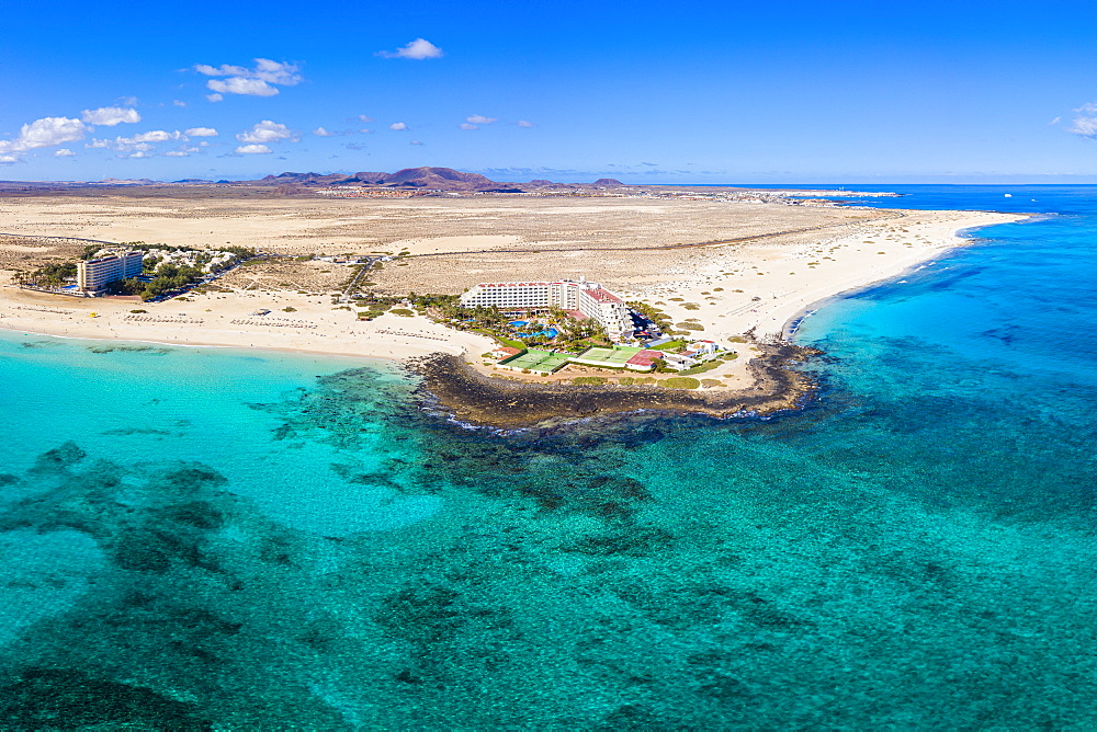 Parque Natural de Corralejo, beach and resort near Corralejo, Fuerteventura, Canary Islands, Spain, Atlantic, Europe