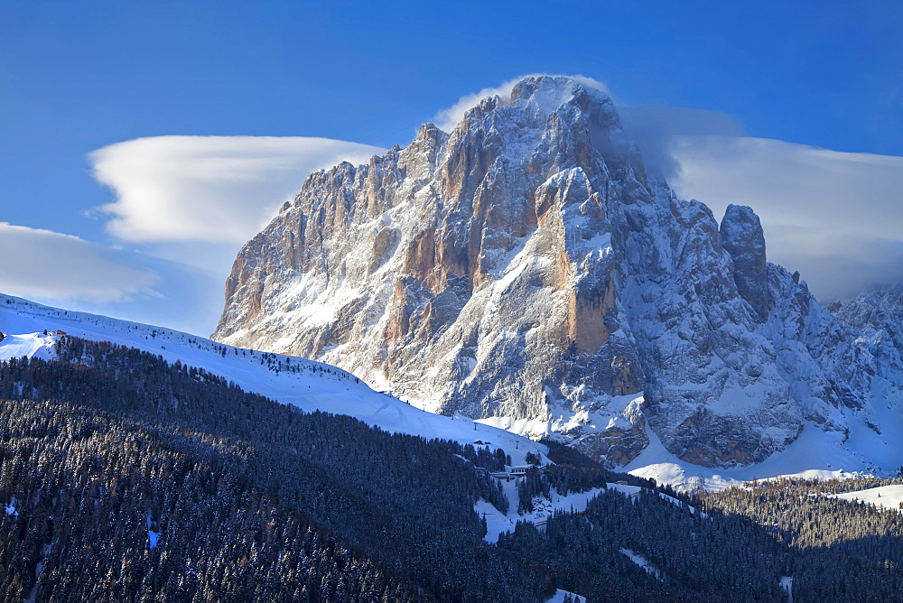 Sassolungo mountain, 3181m, Val Gardena, Dolomites, South Tirol, Trentino-Alto Adige, Italy, Europe - 794-870