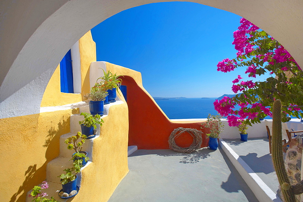 Santorini island, Cyclaldes, Greek Islands, Greece, Europe - 795-642