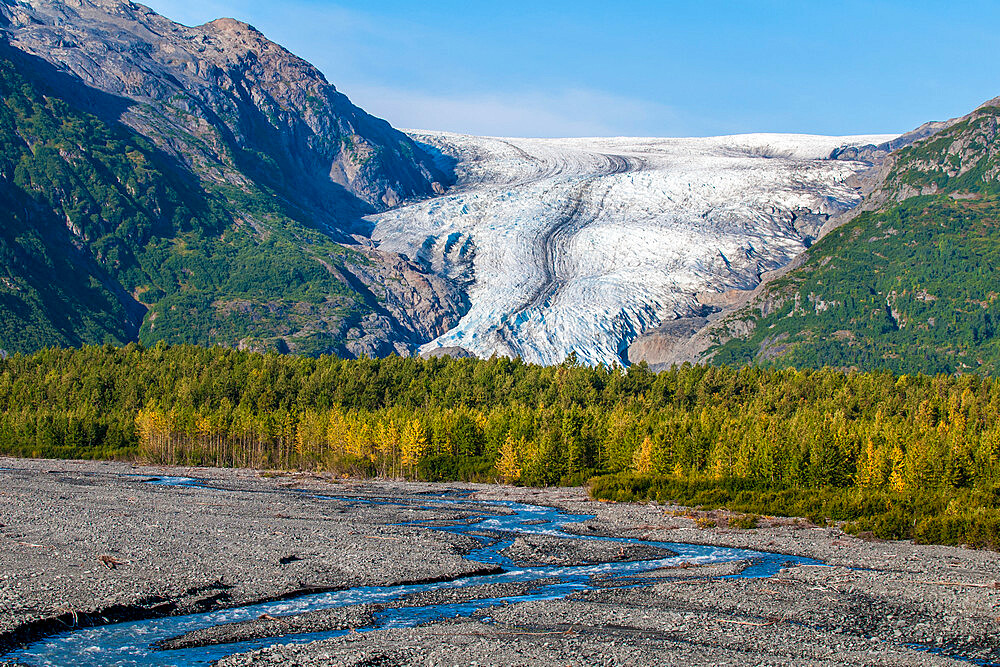 Exit Glacier, Kenai Fjords National Park, Alaska, United States of America, North America - 796-2384