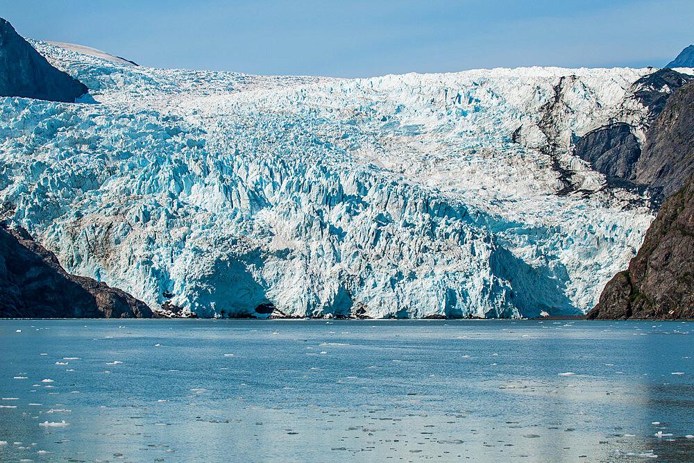 Holgate Glacier, Harding Icefield, Kenai Fjords National Park, Alaska, USA.