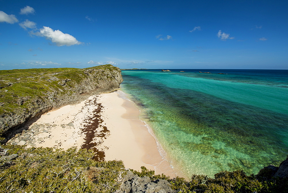 Secret Cave Beach, Middle Caicos, Turks and Caicos Islands, West Indies, Central America - 796-2439