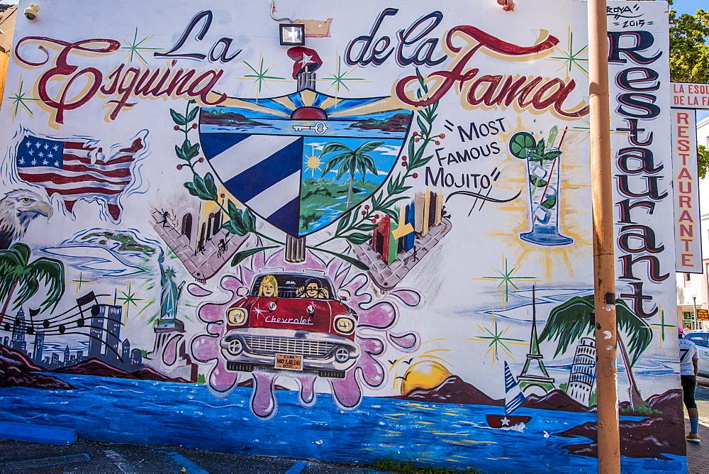 Wall murals, Little Havana, Miami's Cuban district, Miami, Florida, United States of America, North America