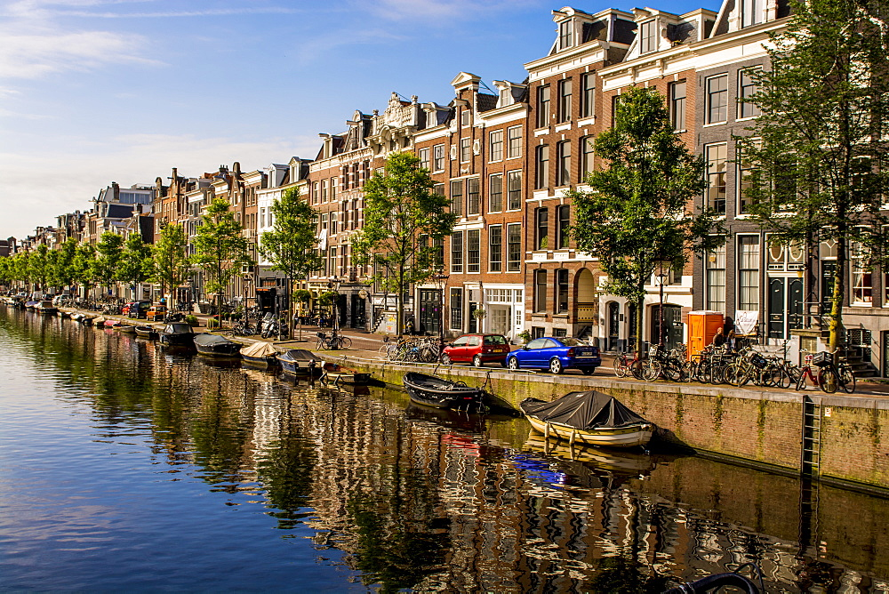 Prinsengracht Canal, Amsterdam, Holland, Netherlands. - 796-2553