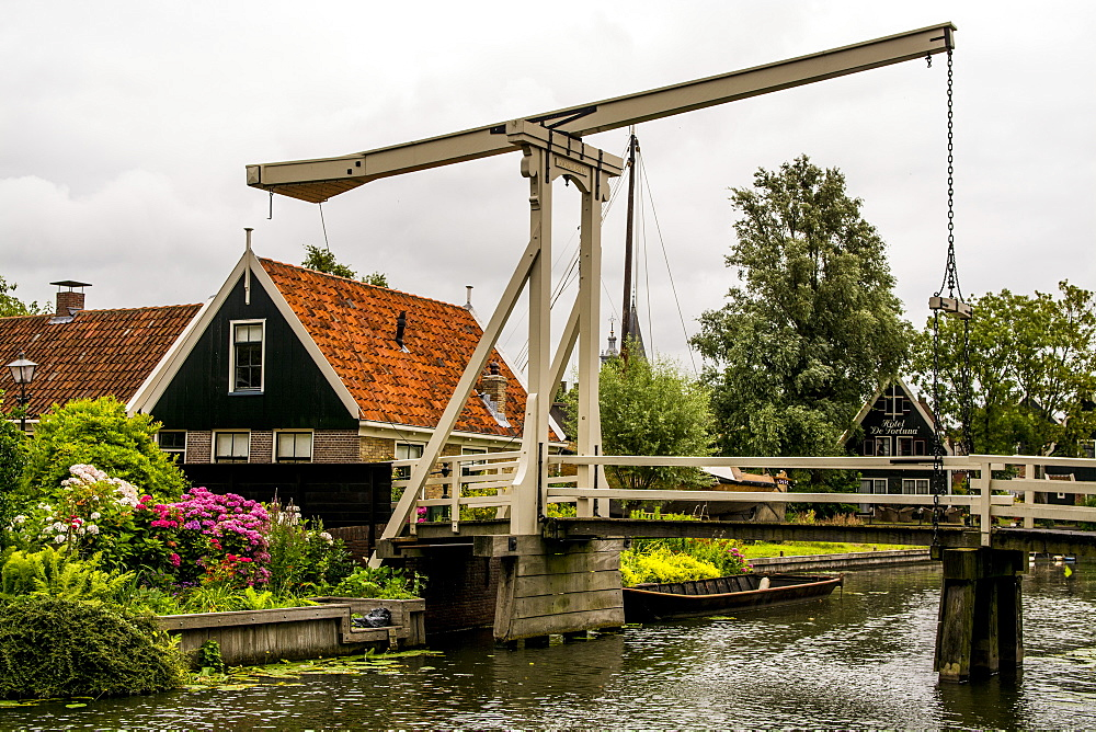 Kwakel ift bridge in Edam, Holland, Netherlands.