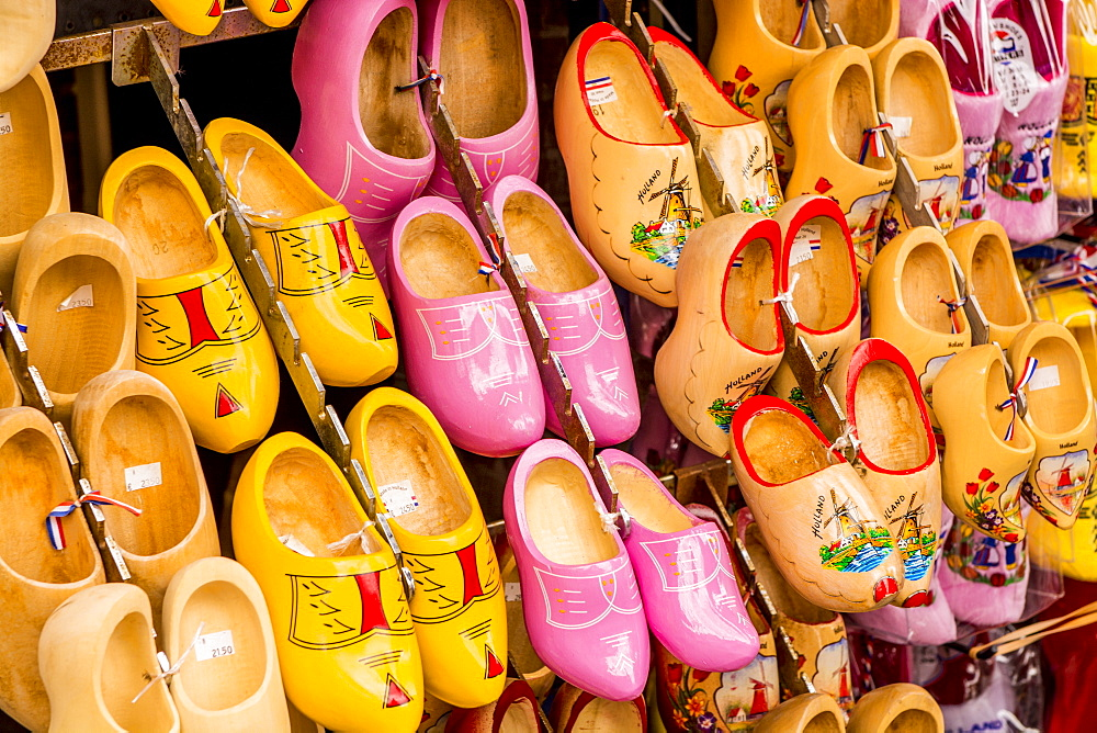 Souvenir clogs or wooden shoes, Volendam, Holland, Netherlands.