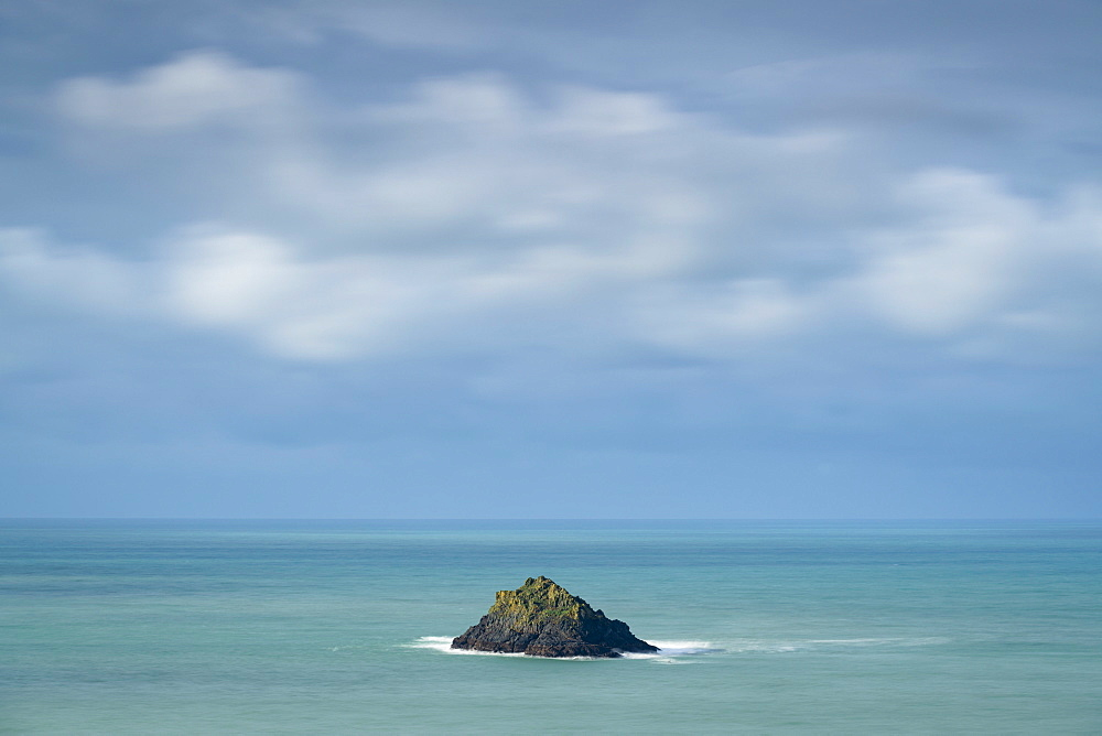 Newland Island off the coast of Pentire Point, North Cornwall, England, United Kingdom, Europe