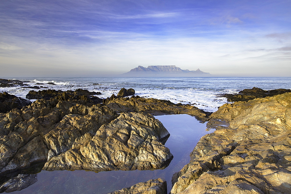 View of Table Mountain from Bloubergstrand, Cape Town, Western Cape, South Africa - 800-3196