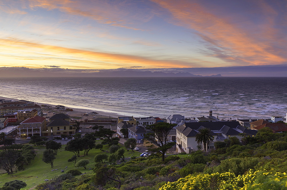 Muizenberg beach at dawn, Cape Town, Western Cape, South Africa