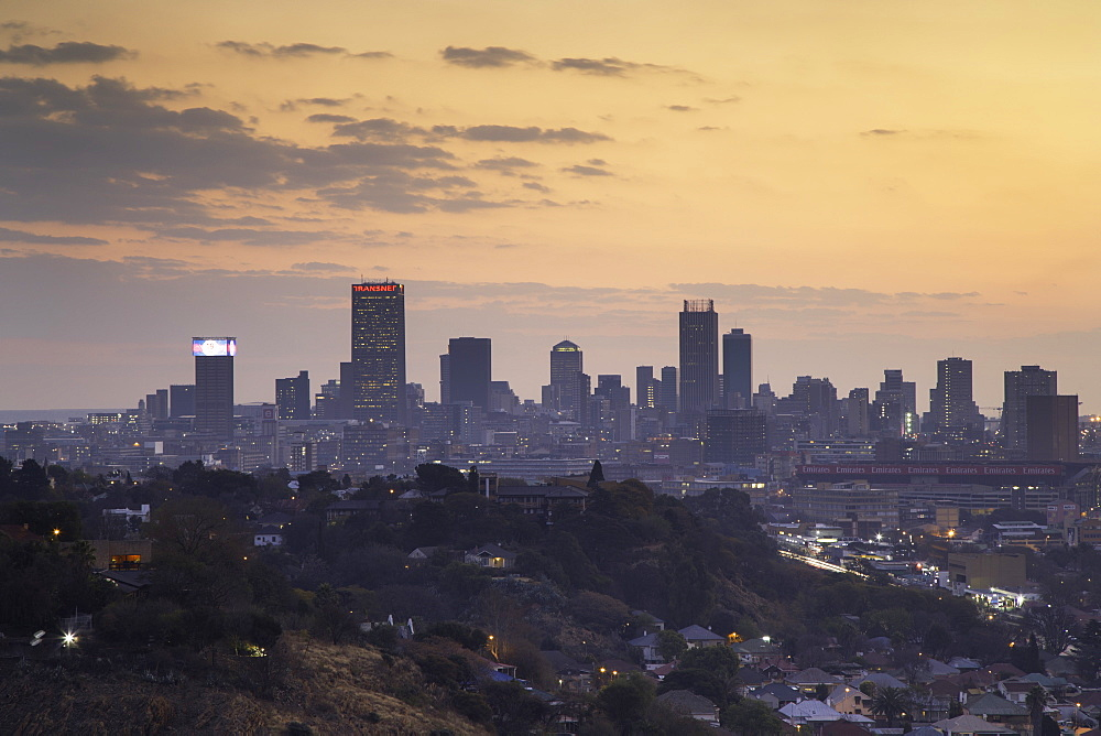 View of skyline at sunset, Johannesburg, Gauteng, South Africa - 800-3220