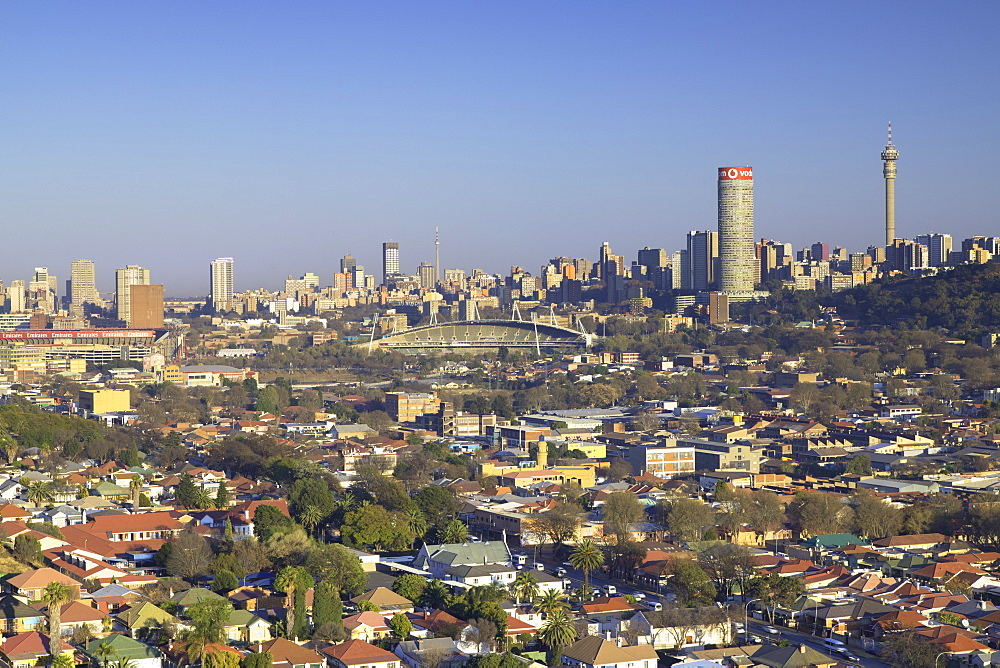 View of skyline, Johannesburg, Gauteng, South Africa, Africa