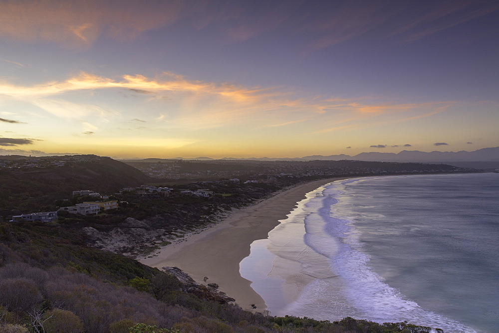 Robberg Nature Reserve and Plettenberg Bay at sunset, Western Cape, South Africa - 800-3225