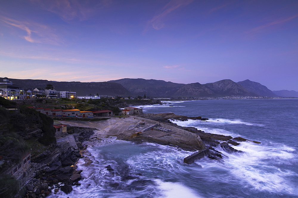 Hermanus at sunset, Western Cape, South Africa