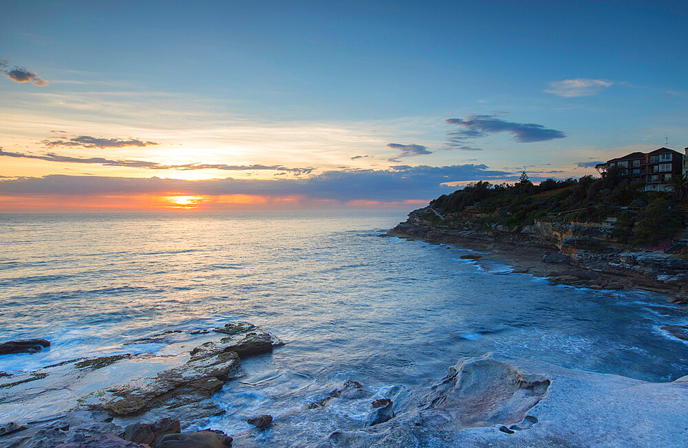 Bondi to Bronte walk at dawn, Bondi Beach, Sydney, New South Wales, Australia