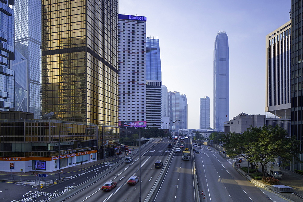 International Finance Centre (IFC) and Connaught Road, Central, Hong Kong Island, Hong Kong, China, Asia