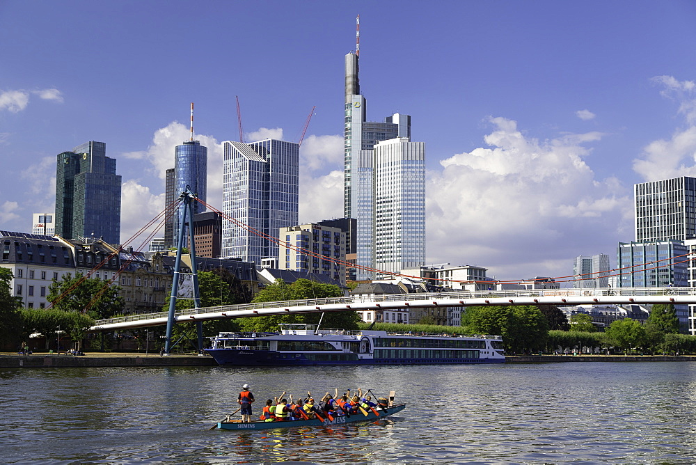 Skyline along River Main, Frankfurt, Hesse, Germany - 800-3556