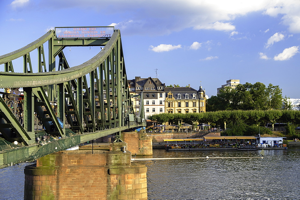 Iron Bridge and River Main, Frankfurt, Hesse, Germany, Europe
