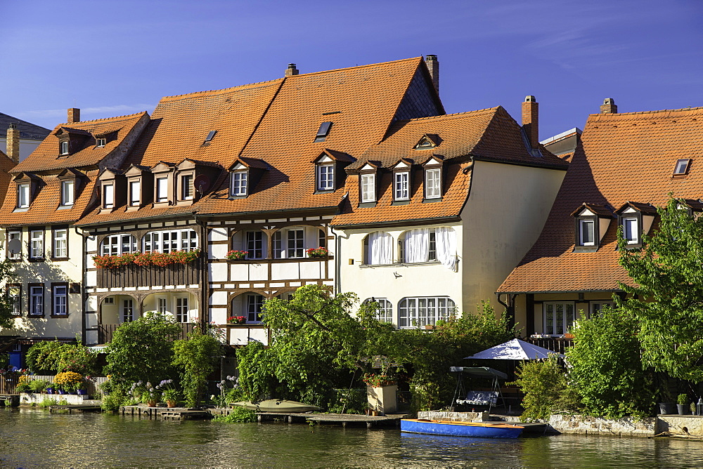 Houses of Klein Venedig (Little Venice), Bamberg, UNESCO World Heritage Site, Bavaria, Germany, Europe - 800-3596