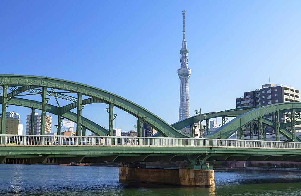 Sky Tree and Komagata Bridge, Tokyo, Japan