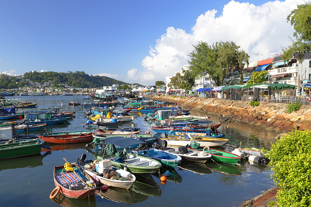 Fishing boats in harbour, Cheung Chau, Hong Kong