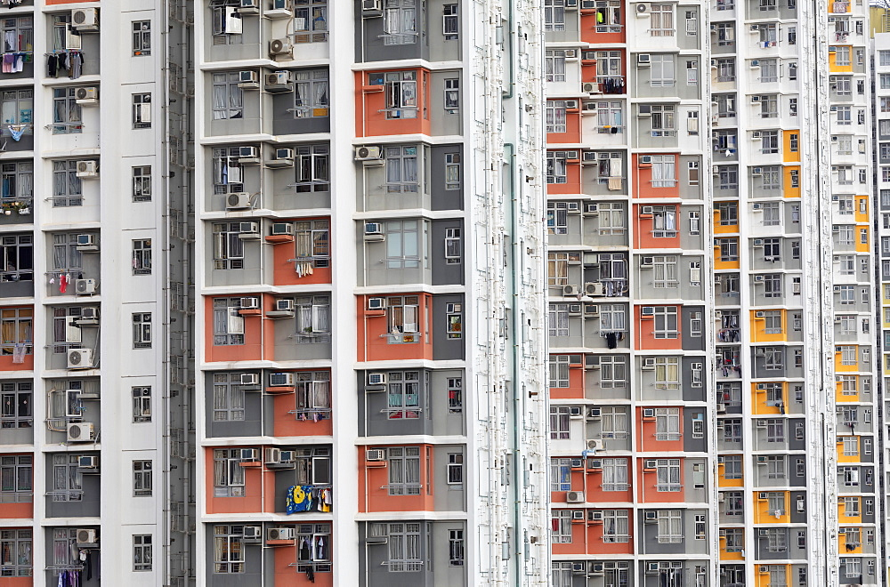 Public housing apartments, Shek Kip Mei, Kowloon, Hong Kong, China, Asia