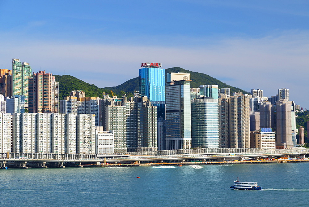 Skyline of North Point, Hong Kong, China, Asia