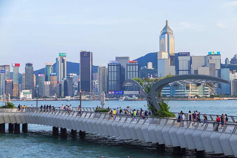 Tsim Sha Tsui promenade and Hong Kong Island skyline, Kowloon, Hong Kong