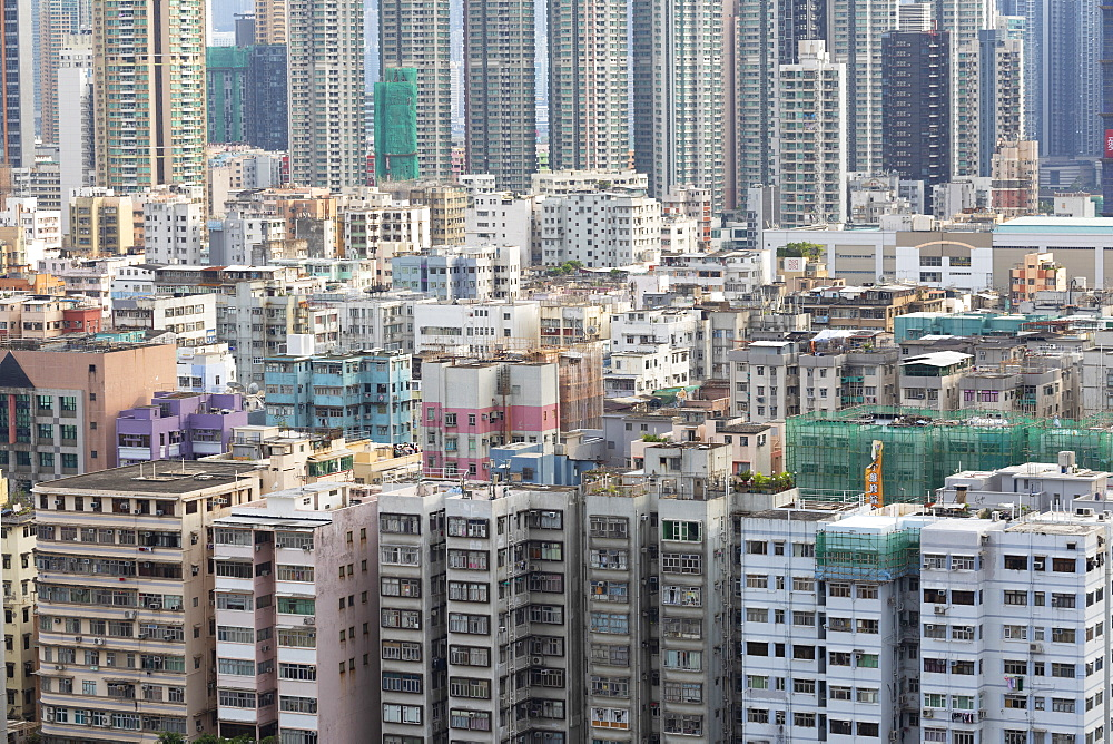Apartment blocks, Shek Kip Mei, Kowloon, Hong Kong