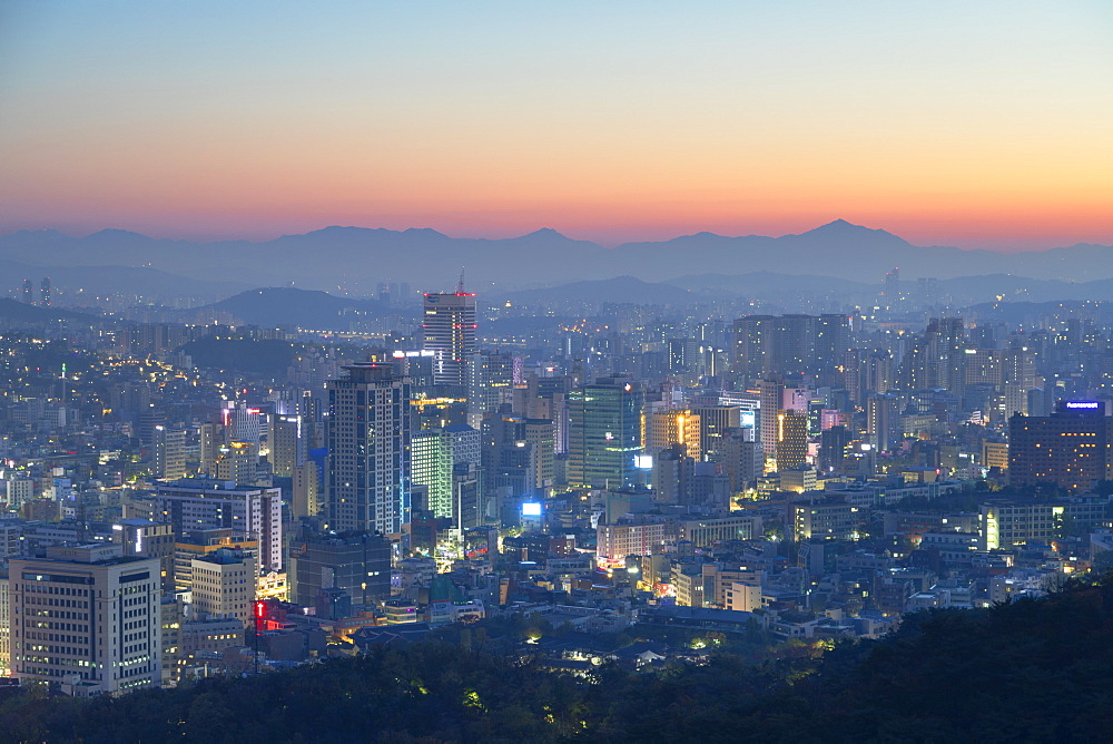 View of Seoul at dawn, Seoul, South Korea, Asia - 800-3849