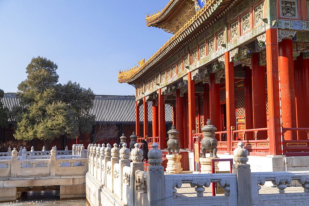 Hall of Imperial College in Confucius Temple, Beijing, China, Asia