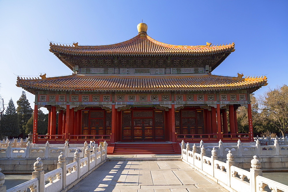 Hall of Imperial College in Confucius Temple, Beijing, China, Asia - 800-3914