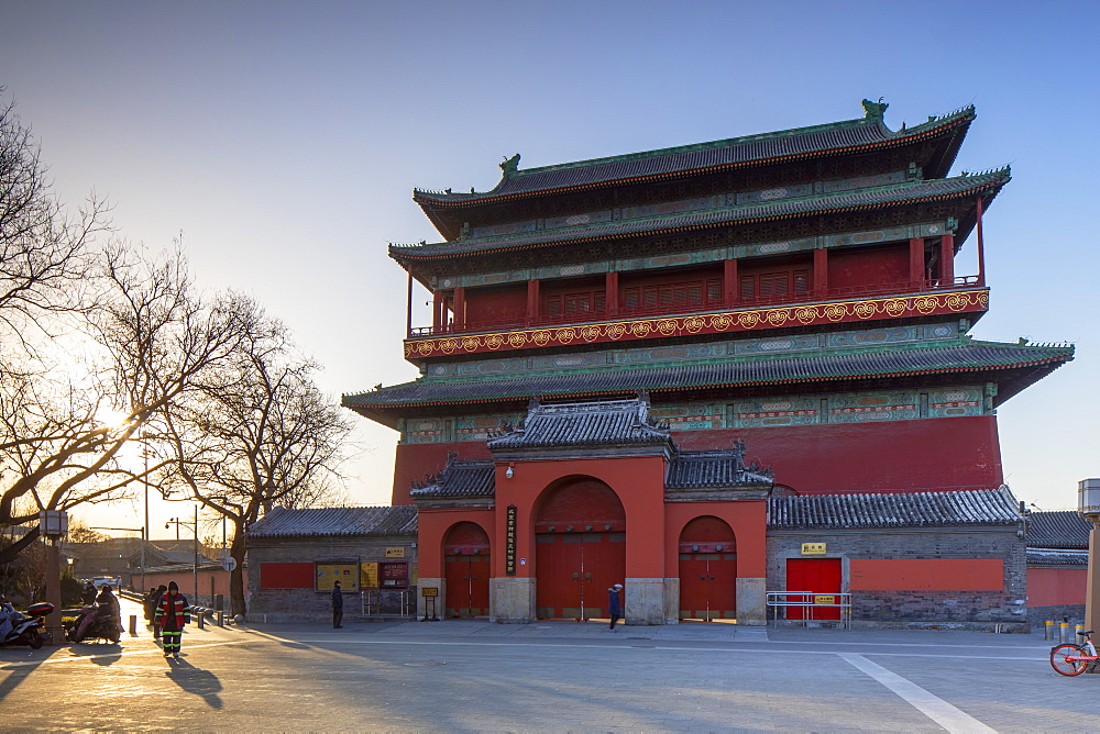 Drum Tower, Dongcheng, Beijing, China, Asia
